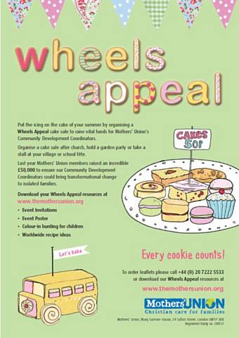 Wheels Appeal Bake Sale